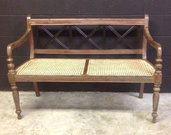 Wooden French Country Bench