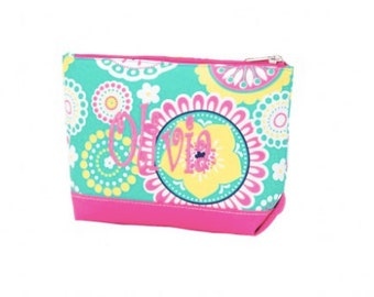 Monogrammed Piper Wholesale Boutique Cosmetic Bag