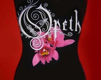 OPETH diy halter  top  reconstructed altered girlie doom metal rock concert Orchid shirt xs s m l xl