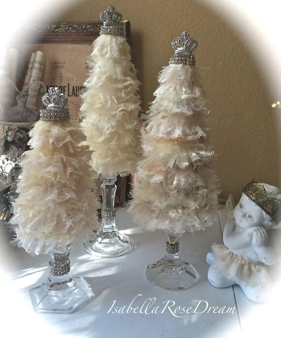 Christmas tree shabby chic tree christmas decor christmas - Navidad shabby chic ...