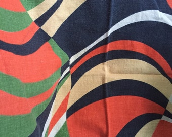 Set of 6 mid century modern French cotton napkins, funky and fun