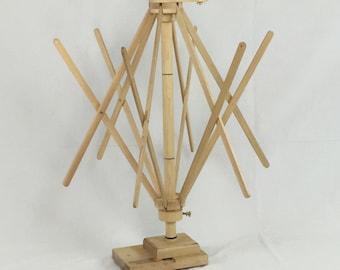 Umbrella Swift, Skeinwinder from Strauch Fiber Equipment, Skein Winder, Table Mount Swift,  Skein Holder, Yarn Winder