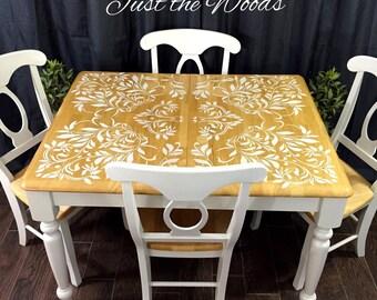 Custom Damask Dining Set