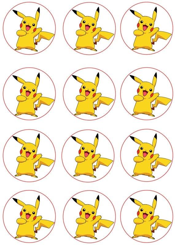 Declarative image pertaining to pokemon cupcake toppers printable