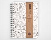 Planner 2016 September - 2017 September Weekly Life Calendar Scheduler Diary Spiral A5 Kalender Calendario Botanical FLORAL HERBAL Undated