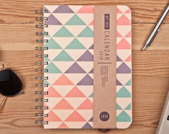 Planner 2016 September - 2017 September. Year Weekly Calendar Diary Spiral A5 Agenda Calendario Kalender Kalenteri Day Planner Journal