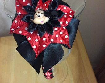 Disney Inspired Minnie Mouse Headband - Handmade