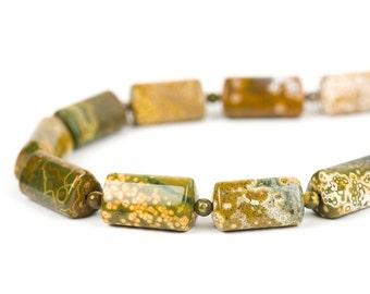 Ocean Jasper, Jasper necklace, Gemstone necklace, Handmade necklace, Handmade Jewelry, Gemstone Jewelry, unique-gift-for-wife, holidays