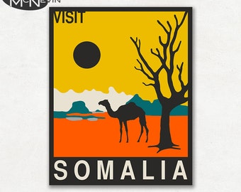 SOMALIA, AFRICAN Travel Poster, Retro Pop Art