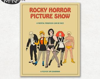 ROCKY HORROR Picture Show Movie Poster, Fine Art Print (Beige Version)