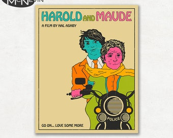HAROLD AND MAUDE Movie Poster, Fine Art Print (color version)