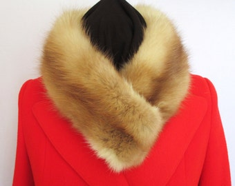 Vintage Mink Collar - Upscaled Into A Warm and Stylish Look.