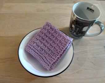 Hand Knit Dish Cloth/Wash Cloth - Lavender  - housewarming gift/ hostess gift/ bridal shower gift/ wedding gift