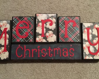 Christmas blocks - merry christmas