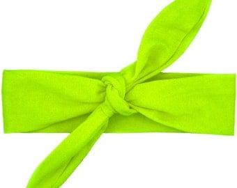 Lime Knot Headband