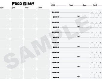 Weekly Weight Loss Food Diary