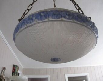 ANTIQUE 1920'S HANGING ceiling fixture..completely original