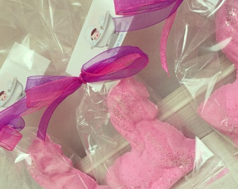 10 Unicorn Bath Fizzy - Party Favours Pink Bath Bomb, Pretty Girlie Gifts