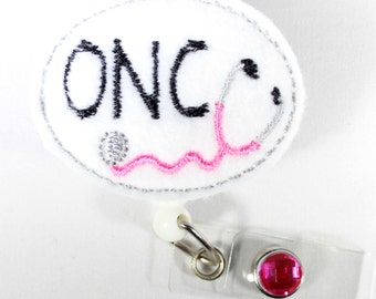 Oncology Nurse Oncology unit Badge Reel ONC badge Reel