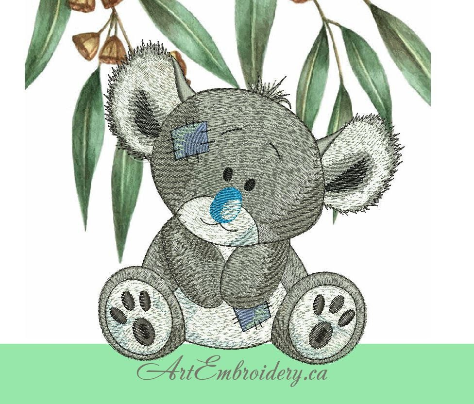 Koala Art And Design : Koala gumgum machine embroidery designs set for a babies