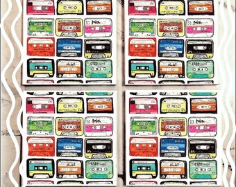 Cassette Tile Coaster Set