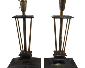 Pair of 1950's James Mont Lamps