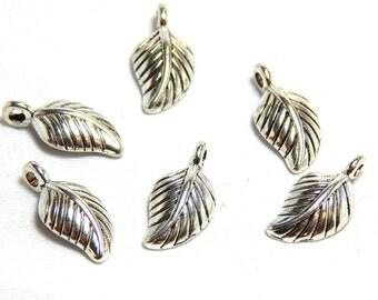 8 Leaf Charms, Silver Leaf Charms, Leaf Charm, Leaf Charms, Nature Charms, Nature Charm, Leaves, Small Leaf Charms, Leaf Pendants, SC-71