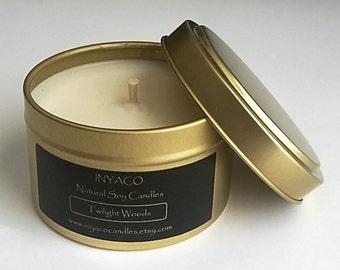 Twilight Woods Soy Candle 6oz Gold Tin