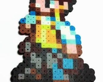 Final Fantasy 12 Balthier Perler Bead sprite - video game decor - final fantasy art - ff12 - ffxii - gamer gift - geeky decor - 16 bit