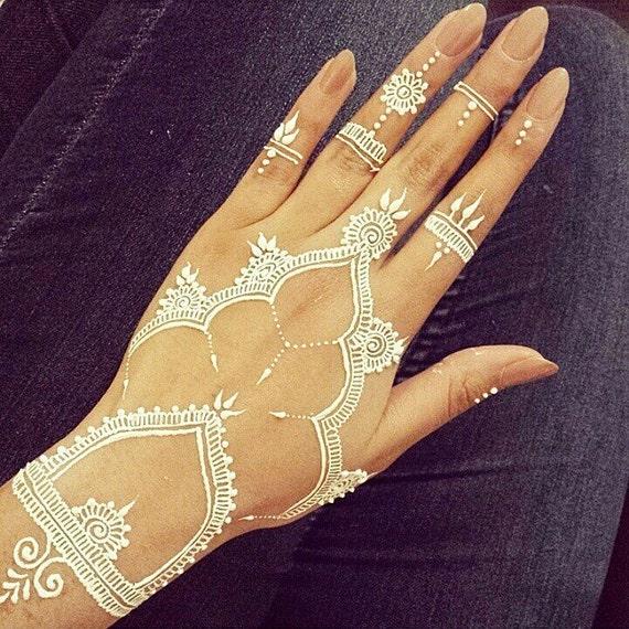 White Wedding Dress With Henna: White Henna Cones Henna Cone Bridal White Henna By