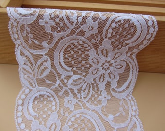 pure white wedding invitation lace trim ,Lace Trim Vintage- 4.5 INCH WiDE SeWiNG CRaFTS WeDDiNG,
