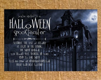 Customized Halloween Party Invite - Digital File