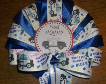 Police Baby shower corsage My Mommy To Be is a police officer