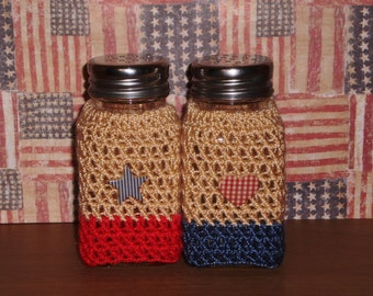 Country Patriotic Salt and Pepper Sweater Set