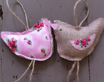 Easter chick hen decoration hangings rustic folk style