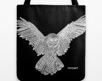THYSART owl tote