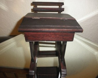 School Desk Wooden Miniature