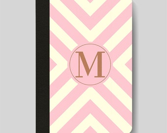 iPad Folio Case, iPad Air Case, iPad Air 2 Case, iPad 1 Case, iPad 2 Case, iPad 3 Case, iPad Mini 1 2 3 4 Case, Pink Chevron Monogram Case