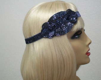 Flapper headband, Great Gatsby headband, 1920s headpiece, Downton Abbey, Art Deco headband, Beaded headband, Vintage inspired