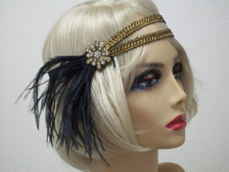 1920s Headband Flapper Headband 1920s Headpiece Gatsby