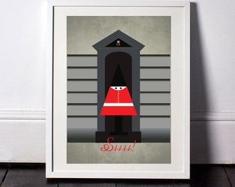 H is for Horseguard A3 Poster taken from my Little Book of Londoners