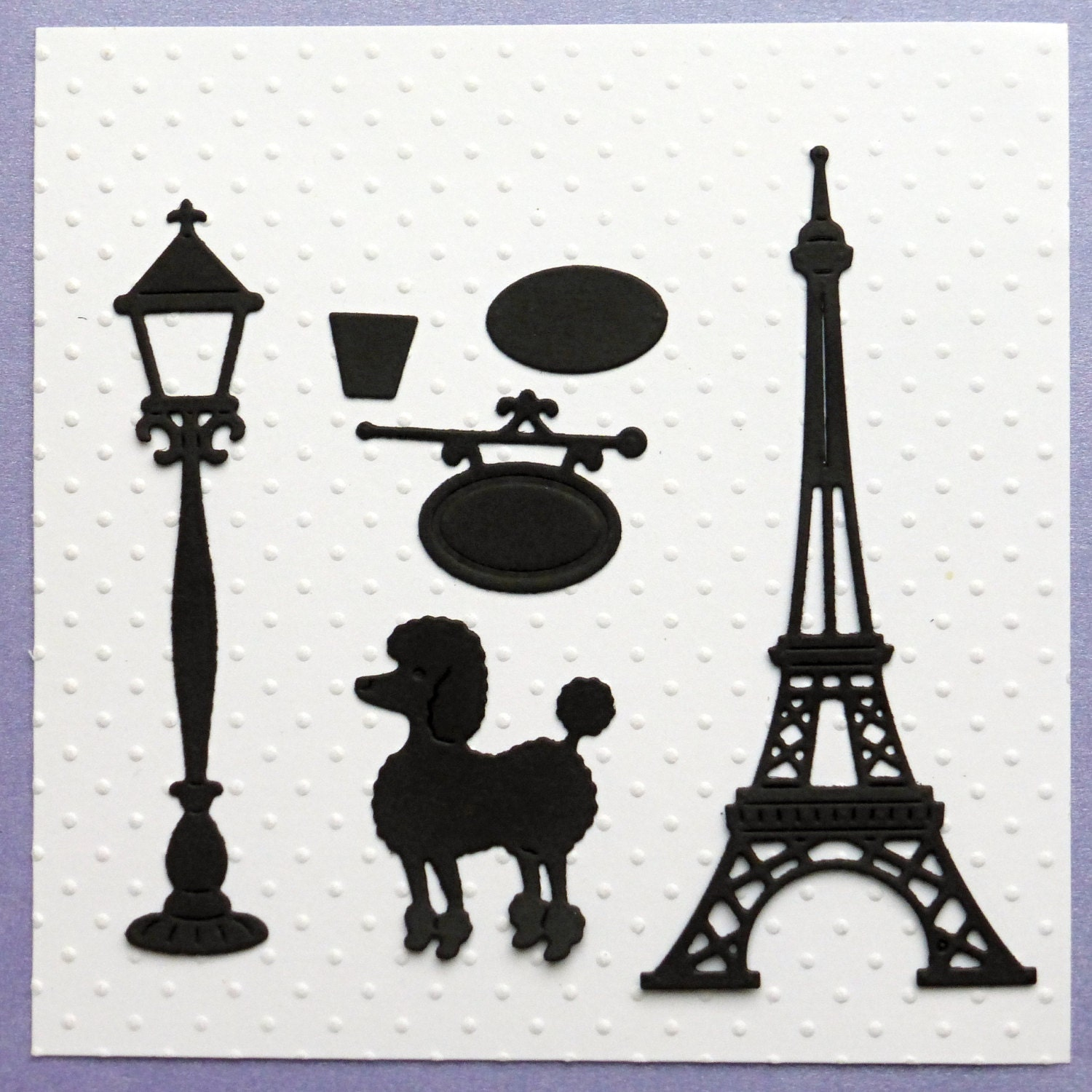 Fantastic Eiffel Tower Lamp Post Hanging Sign And By