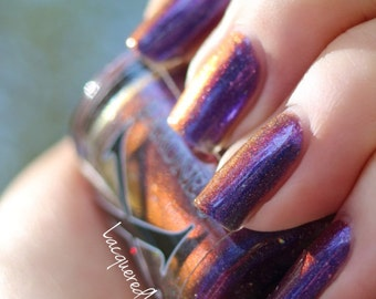 Ammil - Holo Multichrome Polish - Holographic Nail Polish with Multichrome Shift and Micro Holo Flakies - Multichrome Nail Lacquer