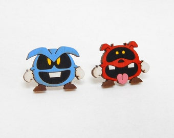 Dr. Mario Virus Earrings
