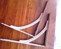Antique brackets, Metal brackets, Salvage hardware, antique shelf brackets, Antique Hardware, Shelf hanging, Antique shelving, Salvage metal