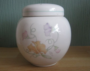 SADLER Ginger Jar - Sweet Pea Pattern