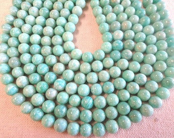 Beautiful 8mm and 10mm Russian Amazonite