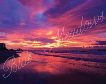 Ocean Sunset, Beach Sunset, Beach View, Natures Beauty, Skies, Gorgeous Sky, Purple Sky, Pink Sky, Myrtle Beach, Sunrise, Ocean View