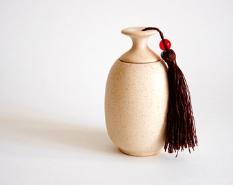 The Simple LightGoldenrod Ceramic Storage Jar, Tea pot, storage, Jar