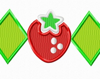 Instant Download Strawberry inspired Shortcake Shirt Applique Design